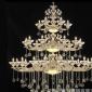 欧式蜡烛水晶吊灯复式楼梯吊灯客厅餐厅酒店工程别墅会所灯具