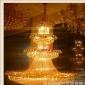 现货酒店工程灯具KTV宾馆会所大厅售楼部水晶工程灯厂家非标吊灯