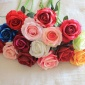 厂家直供 十六色相思玫瑰 绒布玫瑰 仿真花 婚庆用花 装饰用花
