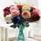 厂家直销 十六色相思玫瑰 绒布玫瑰 婚庆用花 仿真花 家居装饰